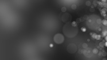 Dark Gray Background. Abstract Glowing Bokeh Circles Or Sparks. 3D Rendering