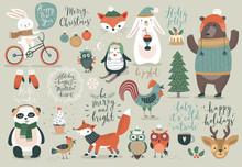 Christmas Set, Hand Drawn Styl...