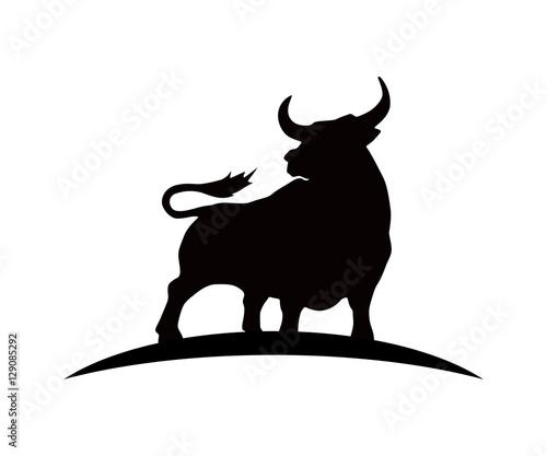 Black Silhouette Bull Logo