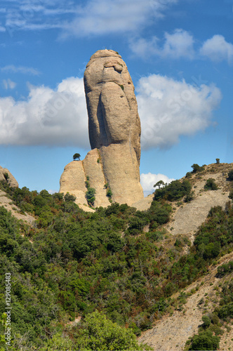 Fotografering  Montserrat  - multi-peaked rocky range located near the city of Barcelona in Catalonia, Spain