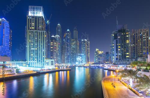 Fototapety, obrazy: Modern and luxury skyscrapers in Dubai Marina,Dubai,United Arab Emirates