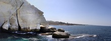White Cliffs And The Grotto. Rosh Hanikra, Israel
