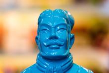 Blue Terracotta Warrior Figure...