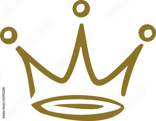 Canvastavla Crown handdawn