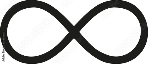 Stampa su Tela Thin infinity sign