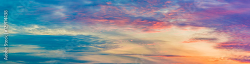 Foto auf Gartenposter Nordlicht cloudy sky at sunset