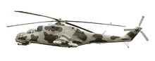 Military Aircraft On White Background