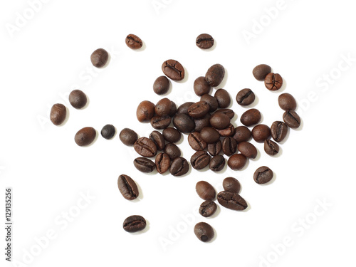 Poster Café en grains Coffee beans isolated on white background