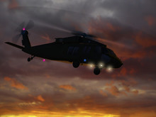 3d Rendering Of Helicopter UH-...