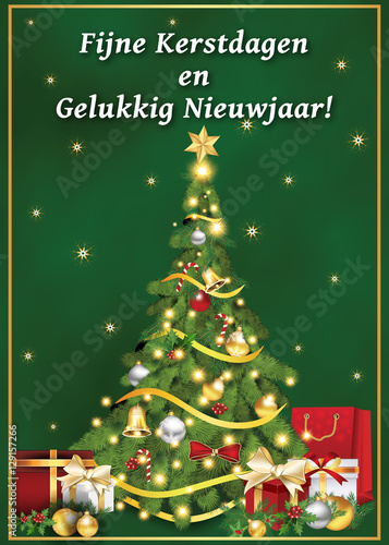 picture relating to Merry Christmas in Different Languages Printable known as Fijne Kerstdagen en Gelukkig Nieuwjaar! - dutch language