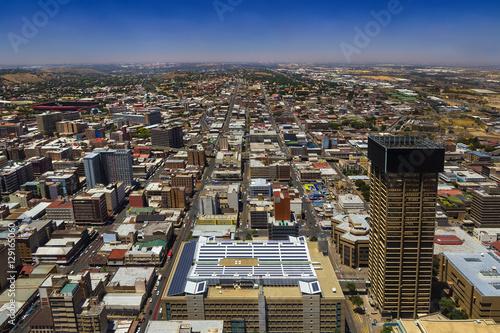 Foto op Canvas Zuid Afrika Republic of South Africa. Johannesburg, Gauteng Province. Cityscape (east part) seen from the Carlton Center viewing deck