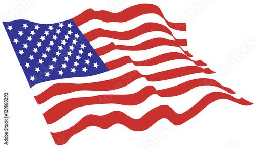 Photo American flag vector color