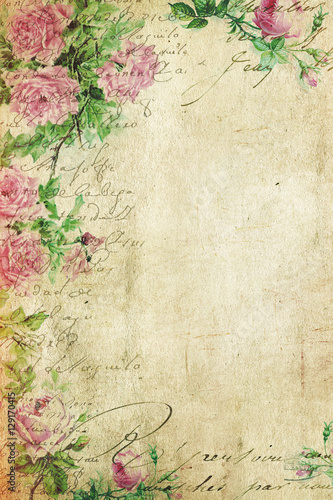 vintage background floral illustration old paper texture wedding invitation buy this stock photo and explore similar images at adobe stock adobe stock old paper texture wedding invitation