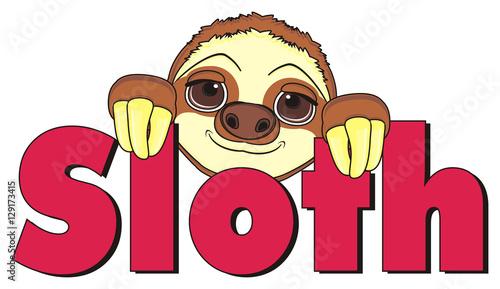 animal fauna monkey slow sloth cartoon zoo claw kind cute