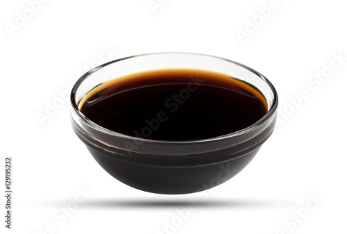 Soy sauce isolated on white background, with clipping path