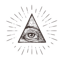 All Seeing Eye Symbol. Vector Illustration