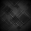 Black glass squares vector tech design