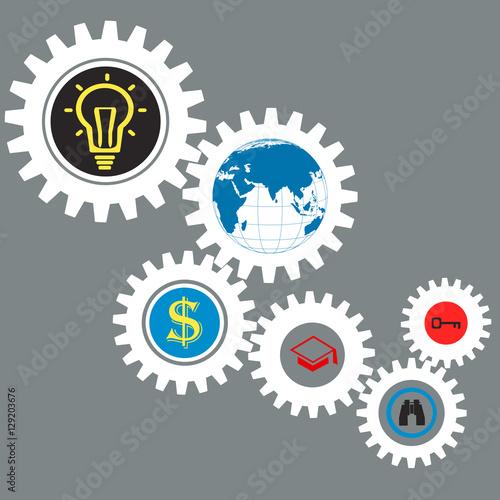 Fotografie, Obraz  Business concept vector