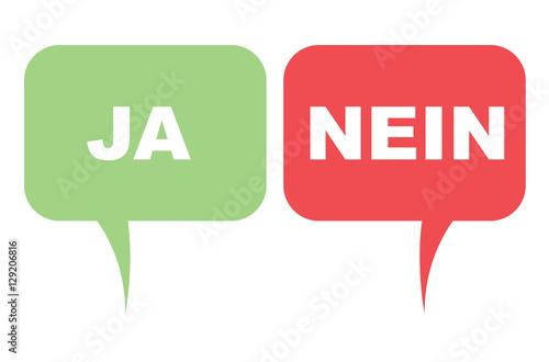 Ja Nein Sprechblasen Buy This Stock Vector And Explore Similar