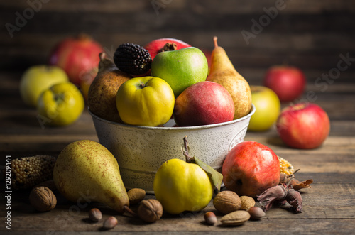 Fresh fruits Canvas Print