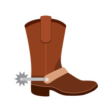 Cowboy Boots Flat Icon