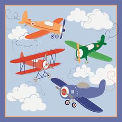 fototapeta kolorowe samoloty