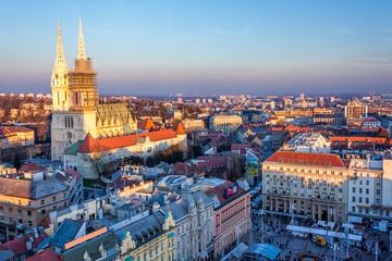 Pogled na glavni trg u Zagrebu, Hrvatska