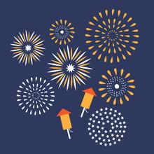 Flat Design Fireworks EPS10 Ve...