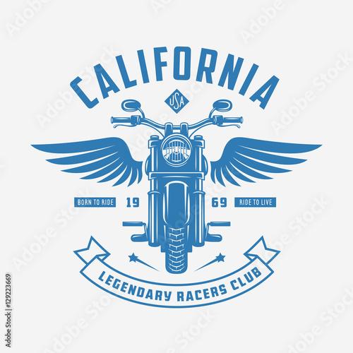 Photo  Vintage motorcycle t-shirt design