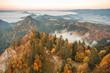 Autumn panorama of Pieniny mountains, Poland
