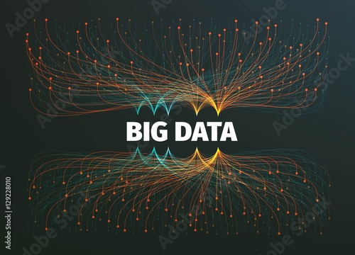 Fotografie, Obraz  big data background vector illustration