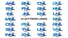 3 Letters Modern Generic Swoosh Logo ANL, BNL, CNL, DNL, ENL, FNL, GNL, HNL, INL, JNL, KNL, LNL, MNL, NNL, ONL, PNL, QNL, RNL, SNL,TNL, UNL, VNL, WNL, XNL, YNL, ZNL