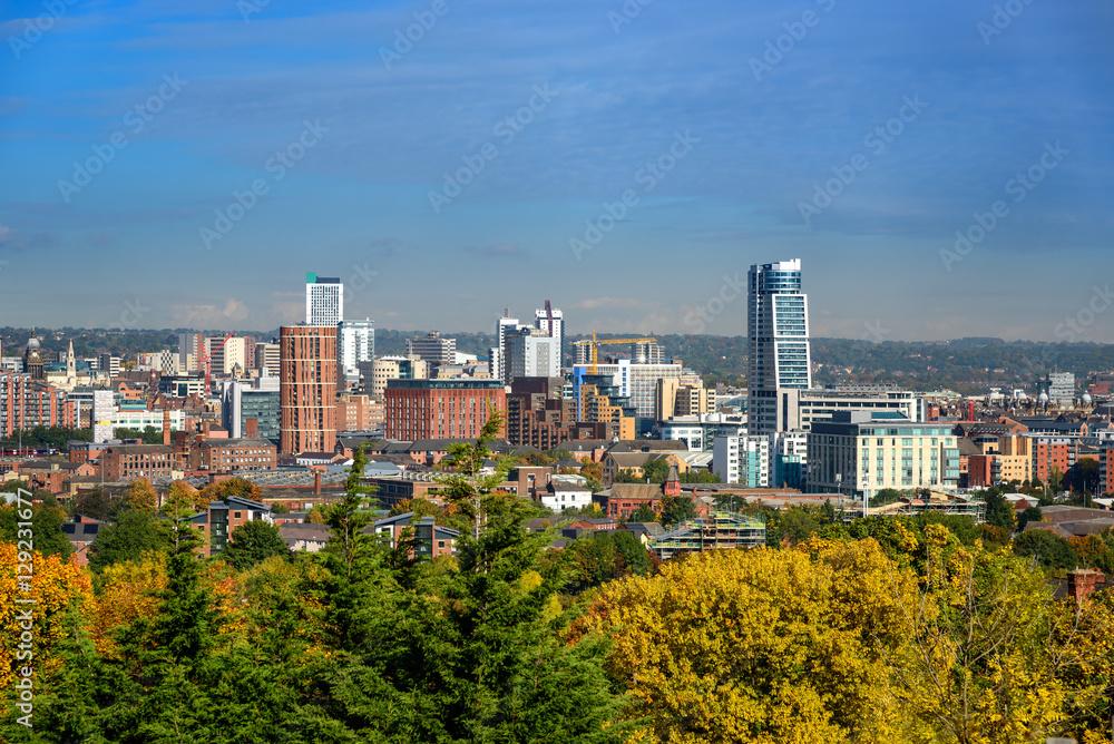 Fototapeta Leeds skyline,Yorkshire England UK