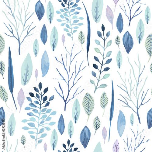Tapeta ścienna na wymiar Flower seamless pattern.