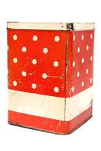 Vintage Kitchen Can Isolated O...