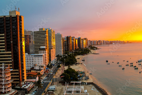 Deurstickers Brazilië Sunset in Fortaleza, Brazil