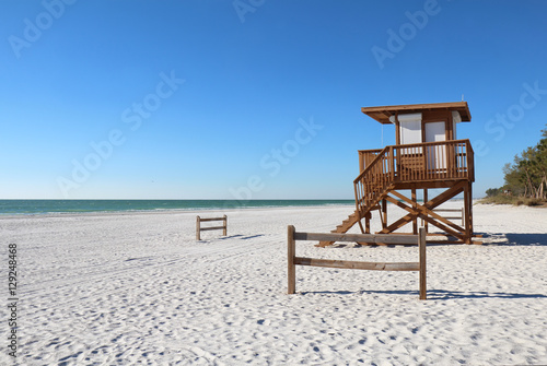 Coquina beach on Anna Maria Island, Florida Poster
