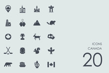 Set Of Canada Icons