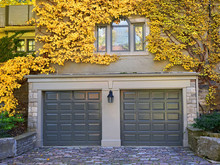 Garage Doors With Vines And Fall Colors