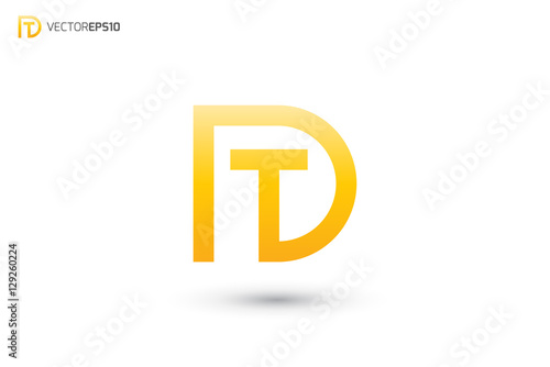 Dt Logo Or Td Logo Buy This Stock Vector And Explore Similar