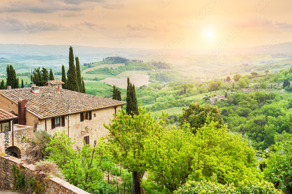Medieval town San Gimignano in Tuscany, Italy