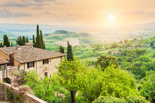 Foto op Canvas Toscane Medieval town San Gimignano in Tuscany, Italy