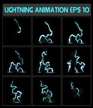 Weblightning Animation. A Lightning Strike To The Ground Or Something Else