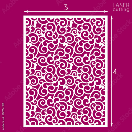 Die Cut Ornamental Panel With Seamless Pattern May Be Use For Laser