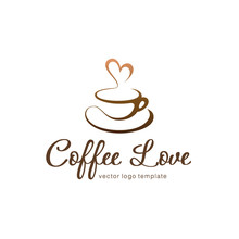 Vector Logo Template. Coffee Love
