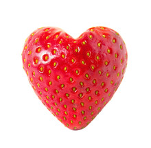 Strawberry Heart Isolated On W...