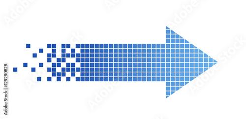 Fotografía  freccia, pixel, connessione, internet, velocità