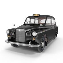 Classic Black British Taxi On ...