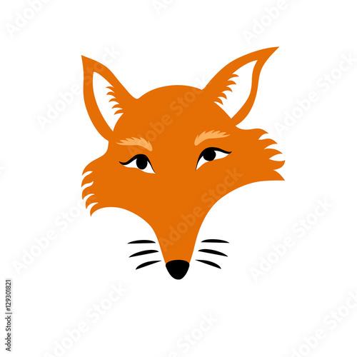 Valokuva Vector isolated illustration of a sly fox head made in cartoon flat style