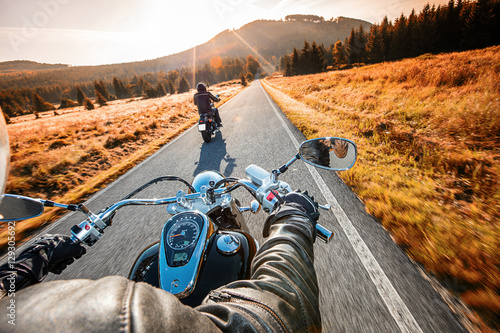 Close up of a motorcycle Canvas Print